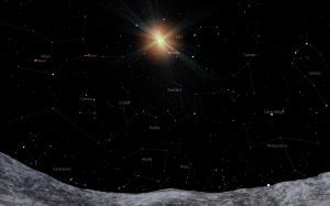26feb2011, ora 23 pe planeta Mercur la 771 km E de craterul Melville