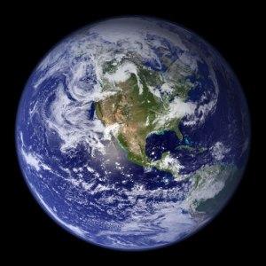 Terra. Foto: NASA Goddard Space Flight Center Image by Reto Stöckli