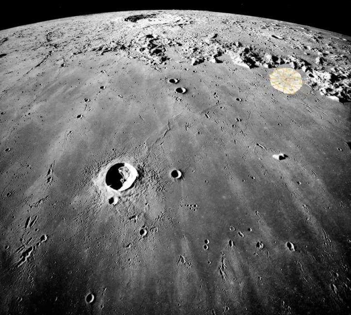 Bucureștiul la poalele Munților Carpați... de pe Lună