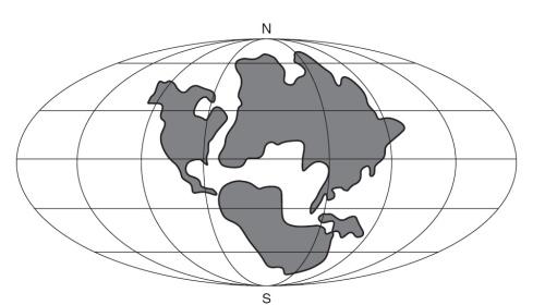 Nu căutați România pe harta aceasta. Ne arată viitorul super-continent de peste 200 de milioane de ani