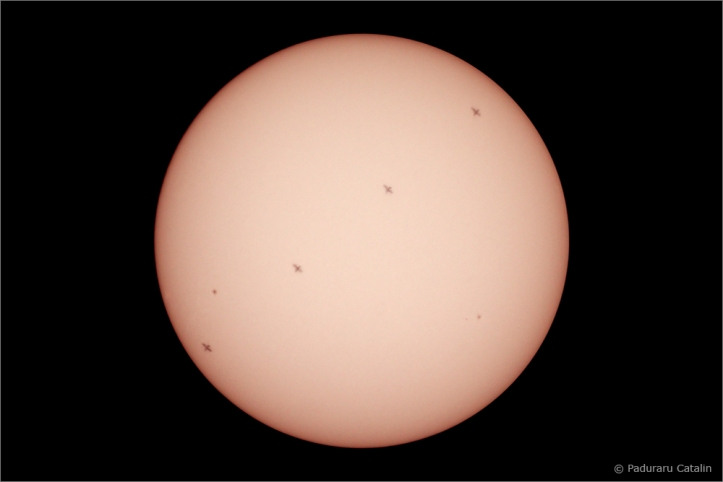 18 mai 2011 - ISS peste Soarele. Foto: Cătălin Păduraru