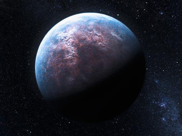 Așa ar putea arăta exoplaneta HD 85512 b. Ilustrație: L. Calçada, ESO