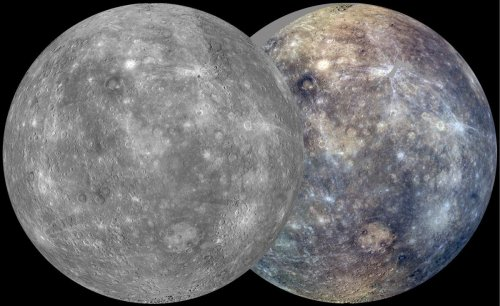 Situația cartografierii planetei Mercur. Alb-negru planeta este cartografiată în proporție de 99%. Color (în trei culori) în proporție de 95%. Foto: NASA / JHUAPL / CIW