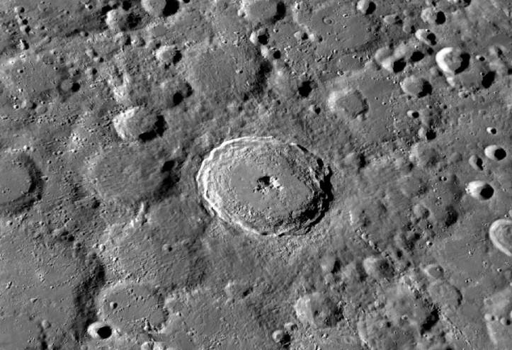 Tycho. Crater aflat pe Lună. Foto: NASA/GSFC/Arizona State University
