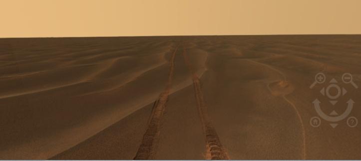 Printre dunele de nisip, în ziua 465 pe Marte. Foto: NASA/JPl