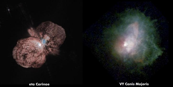 Doua dintre cele mai mari stele cunoscute. Foto: NASA/Hubble Space Telescope