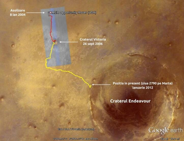 Drumul străbătut până în prezent. Foto: captură ecran Google Earth