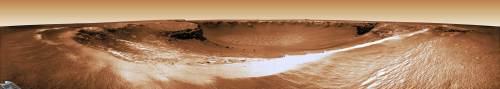 Craterul Victoria, la care am ajuns după 21 de luni de la asolizare. Foto: NASA/JPl