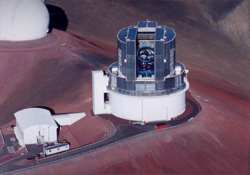 Telescopul Subaru de 8,2 m în diametru. Veți vedea o imagine luată prin acest telescop. Foto: NAOJ