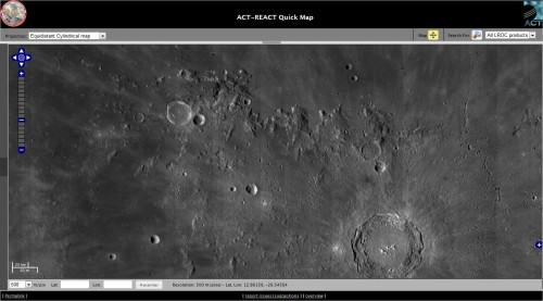 Luna americană. Foto: NASA/LRO