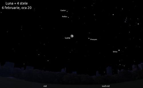 Luna și patru stele - 6 februarie