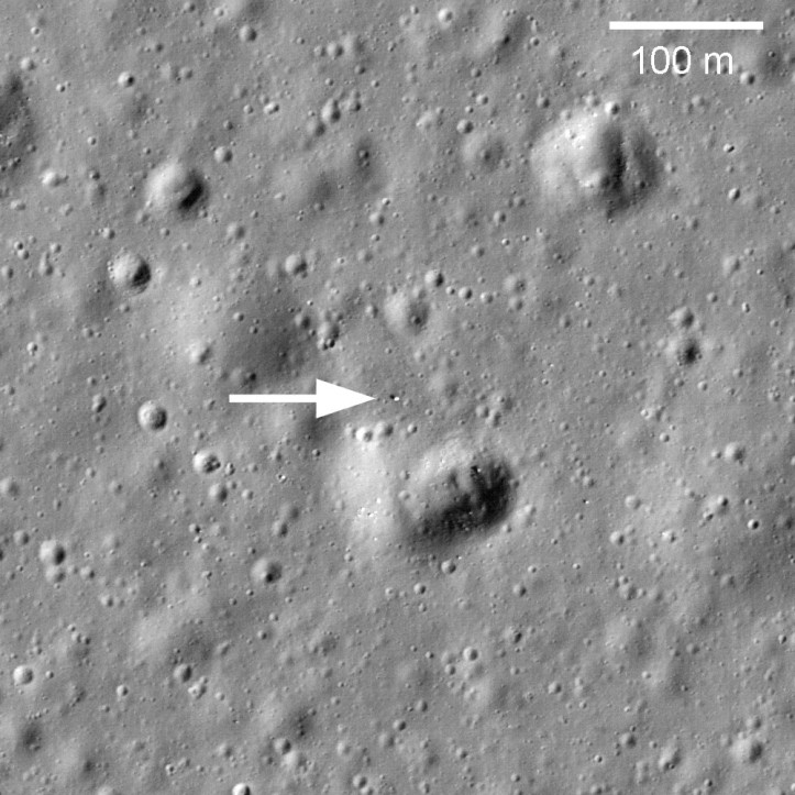 Lunokhod 1 pe Lună. Foto: NASA/GSFC/Arizona State University