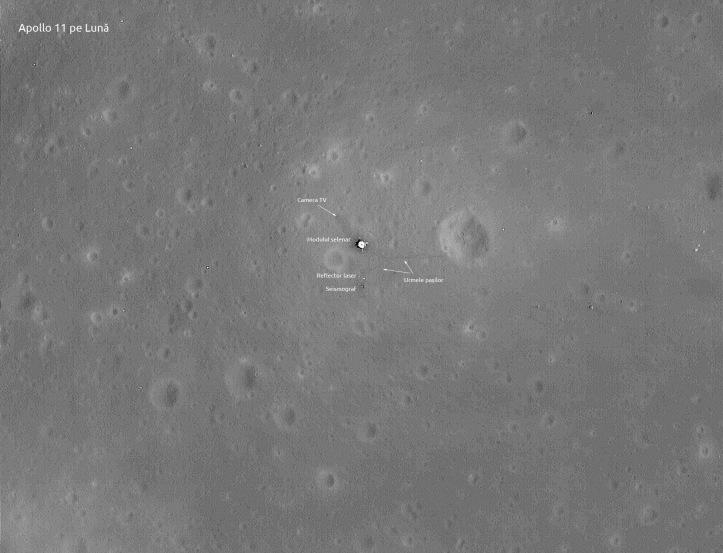 Apollo 11 pe Lună. Imagini NASA/LRO