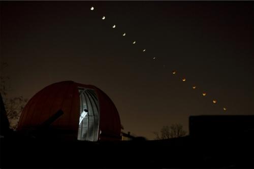 Observatorul Astronomic și o eclipsă de Lună. Foto: Cristina Țintă
