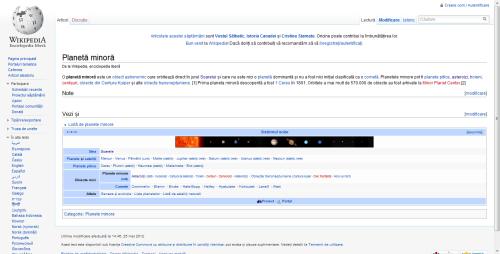 Planete minore - wikipedia ro