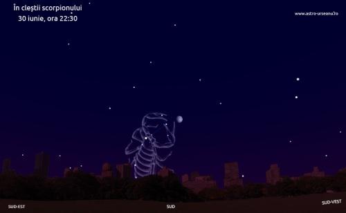 Luna în cleștii scorpionului. Varianta artistică