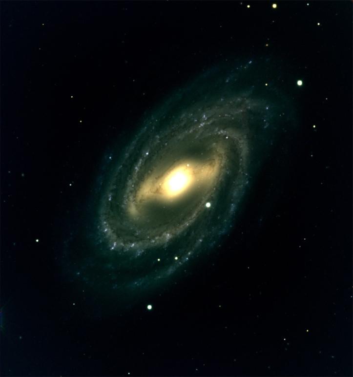 Galaxia spirală Messier 109, aflată la aproximativ 85 milioane de ani lumină. Foto: Lowell Observatory/DCT