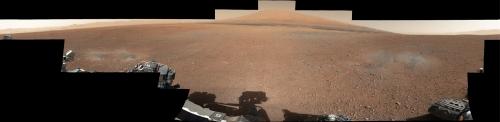 Panoramă oficială a locului de asolizare. Foto: NASA/JPL-Caltech/MSSS