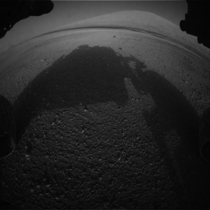 Aeolis Mons, muntele central din craterul Gale. Foto: NASA/JPL-Caltech