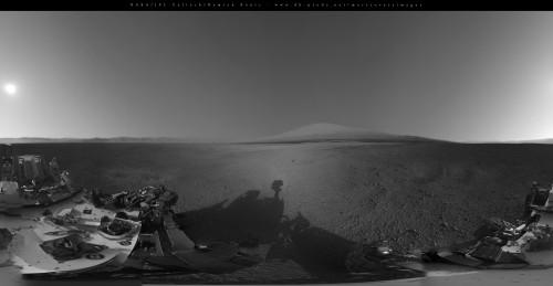 În craterul Gale. Foto: NASA /JPL/Damien Bouic
