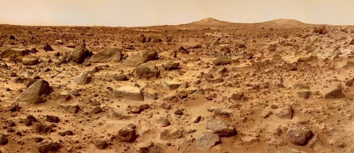 Locul de asolizare al sondei Mars Pathfinder, ajunsă pe Marte în iulie 1997. Foto: NASA
