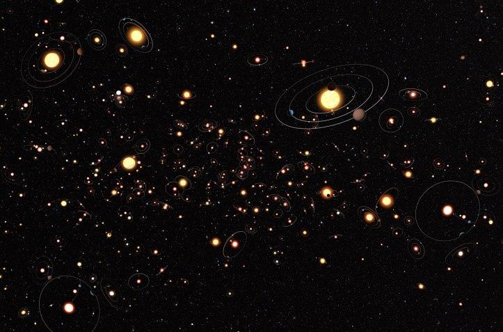 Anumite studii arată că numărul mediu de planete pe fiecare stea este mai mare decât 1. Acest lucru înseamnă că planetele sunt regula și nu excepția. Foto: ESO/M. Kornmesser