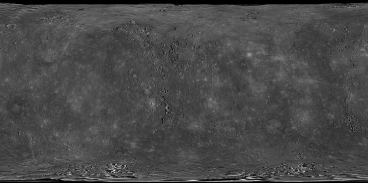 Suprafața planetei Mercur. Foto: NASA/Johns Hopkins University Applied Physics Laboratory/Carnegie Institution of Washington