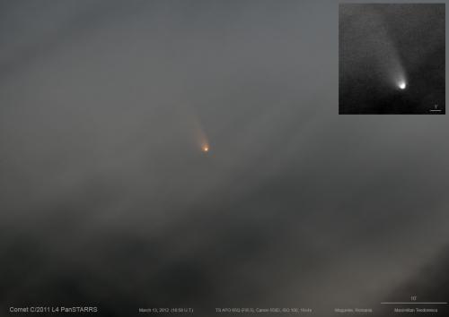 Cometa C/2011 L4 PANSTARRS. Foto: Max Teodorescu