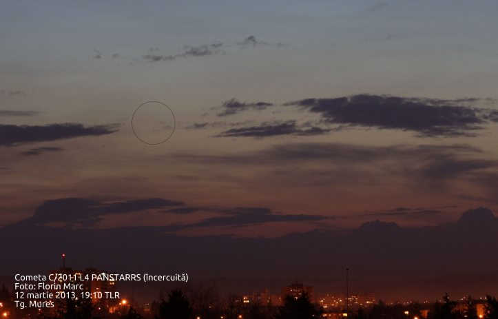 Cometa C/2011 L4 PANSTARRS. Foto: Florin Marc