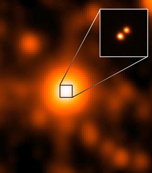 Sistemul binar nou descoperit. Foto: NASA / JPL / Gemini Observatory / AURA / NSF