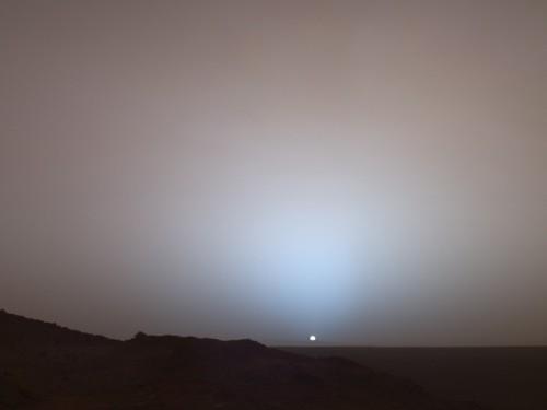 Apus de Soare pe Marte - 19 mai 2005 - Mars Exploration Rover, Spirit. Foto: NASA/JPL