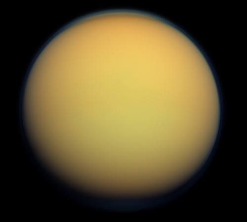 Titan pe 30 ianuarie 2012. Foto: NASA/JPL-Caltech/Space Science Institute