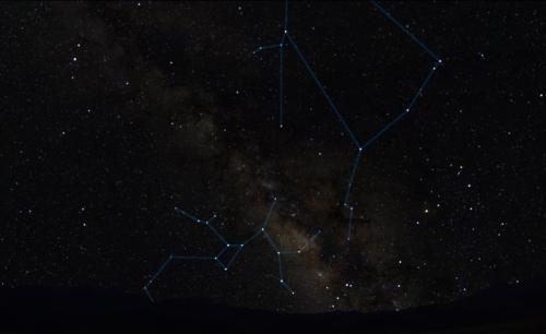 Calea Lactee în noaptea de 22 spre 22 mai 2013