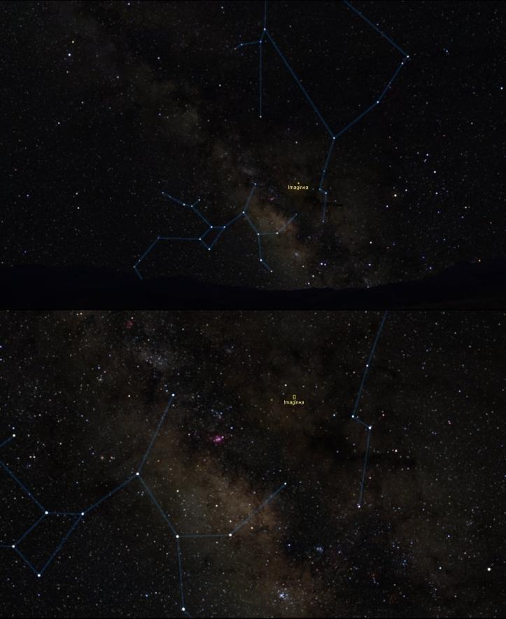 Calea Lactee și regiunea ocupată de imagine