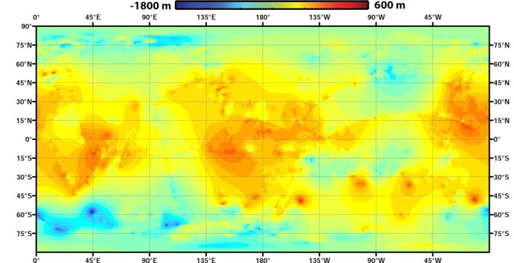 Harta lumii pe Titan. Foto: NASA/JPL-Caltech/ASI/JHUAPL/Cornell/Weizmann