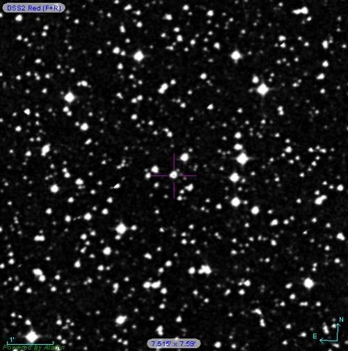 În centu se află CoRoT Sol 1, o stea ca Soarele dar mai bătrână