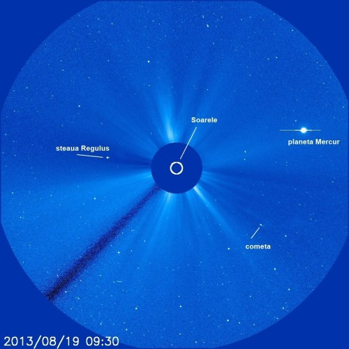 Soarele pe 19 august 2013. Foto: NASA/SOHO