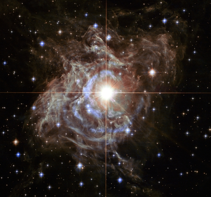 RS din Puppis și nebuloasa din jurul ei. Foto:  NASA, ESA, and the Hubble Heritage Team (STScI/AURA)-Hubble/Europe Collaboration