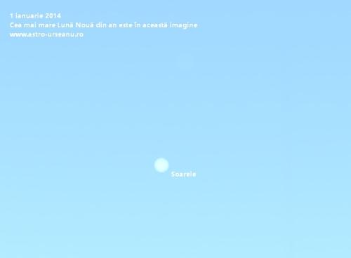 Cea mai mare Lună Nouă se află în această imagine