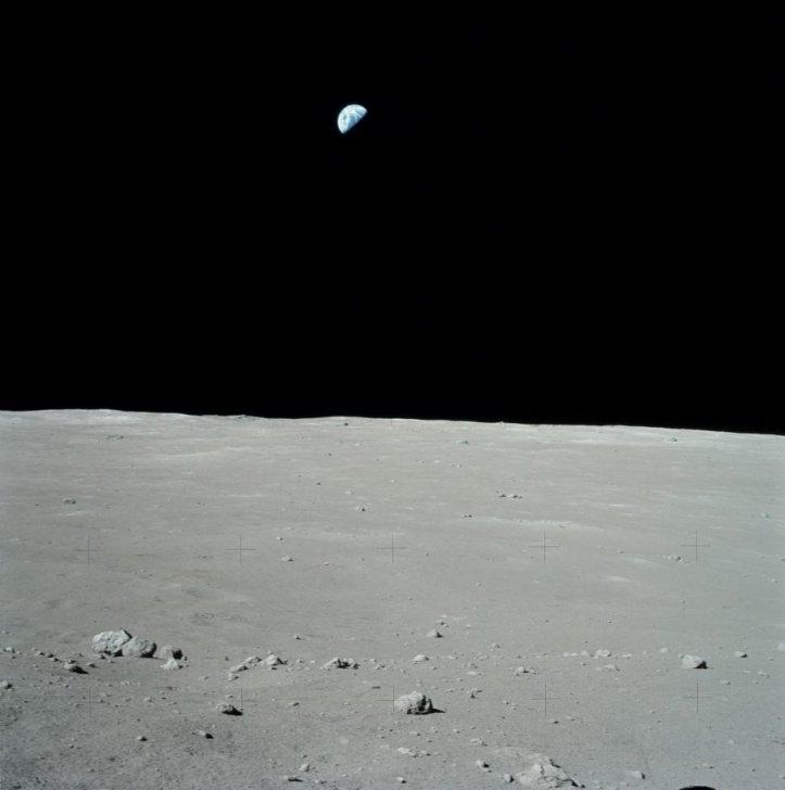 Pământul văzut de pe Lună în timpul misiunii Apollo 17. Foto: NASA