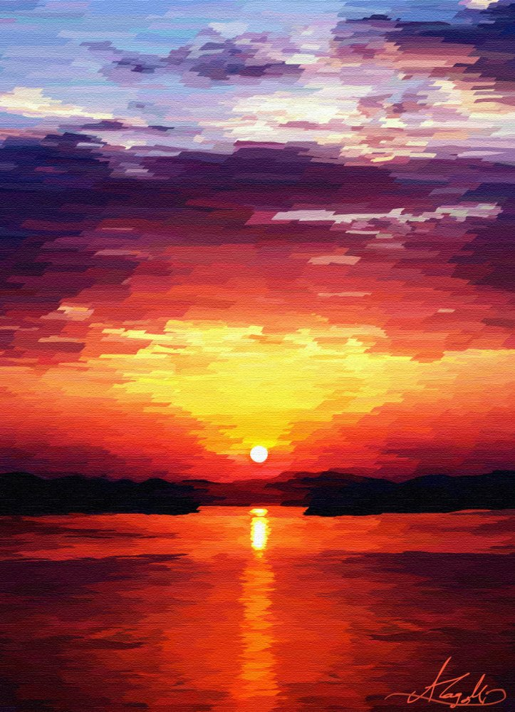 Sunrise_Painting_by_PineapplesQueen. Sursa: http://pineapplesqueen.deviantart.com/art/Sunrise-Painting-139429093