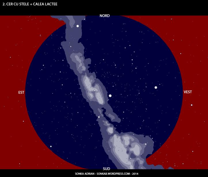 Cerul cu stele și Calea Lactee - 1 iulie, ora 23