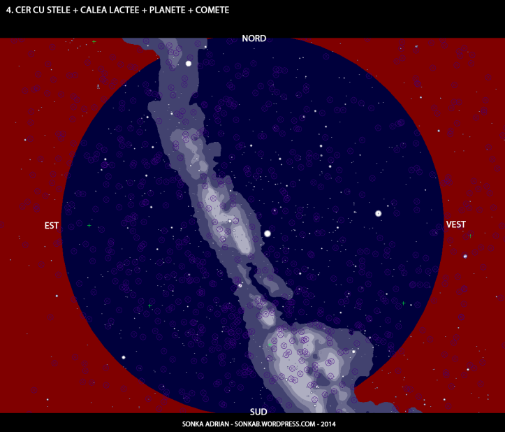 Cer cu stele, Calea Lactee, planete și comete - 1 iulie, ora 23