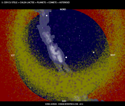Cer cu stele, Calea Lactee, planete, comete și asteroizi - 1 iulie, ora 23