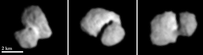Cometa 67P/Churyumov-Gerasimenko de la 5500 km depărtare. Foto: ESA © 2014 MPS for OSIRIS-Team MPS/UPD/LAM/IAA/SSO/INTA/UPM/DASP/IDA
