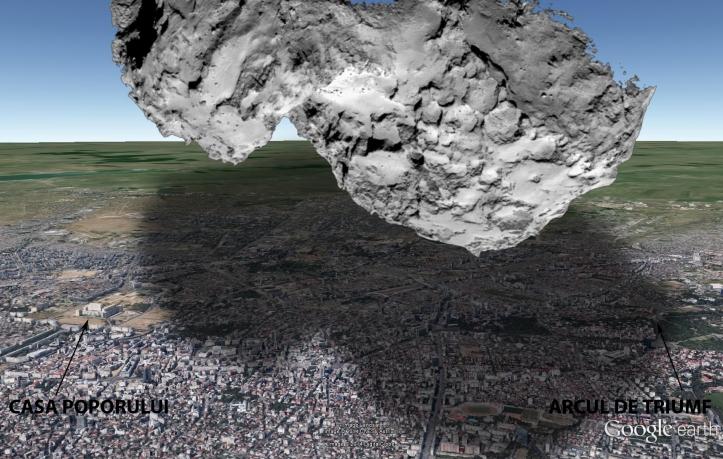 O cometă de 4 km lungime