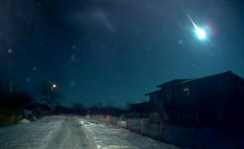 7 ianuarie 2015, ora 3:05: un mini asteroid intră în atmosfera terestră, deasupra României. Foto: Adrian Pascale