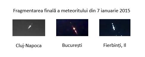 Fragmentarea finală a meteoritului din 7 ianuarie 2015