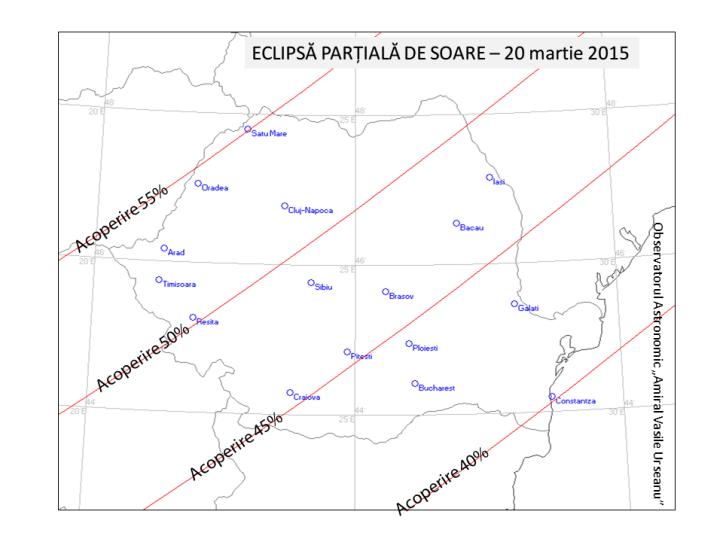 Procentul de acoperire a Soarelui la eclipsa de Soare din 20 martie 2015