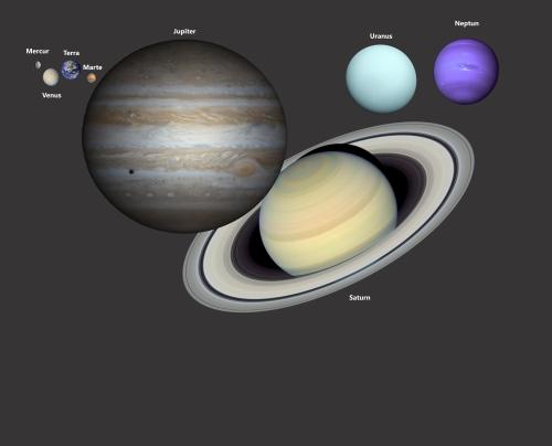 Un alt mod de a vedea sistemul solar: planetele la scara